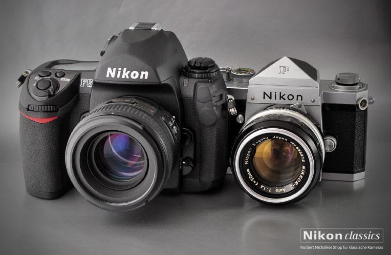 Die F6 mit Ihrem Urahn Nikon F (1959)