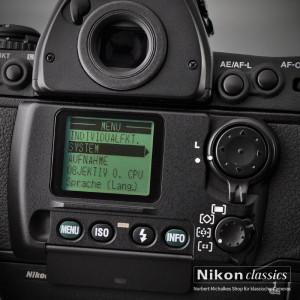 Das rückwärtige LCD-Display erinnert an eine Digitalkamera