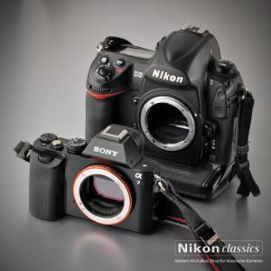 Grössenvergleich Sony alpha7, Nikon D3