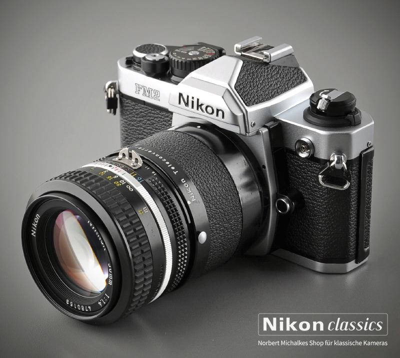 Der TC-200 macht aus dem Nikkor 50/1,4 ein Porträtobjektiv 100/2,8