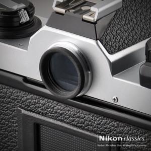 Okularglas an der Nikon FM2