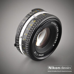 Nikon Lens Series E 50mm/1:1,8, zweite Version